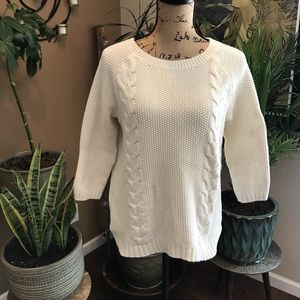 Cynthia Rowley half sleeve cable knit sweater